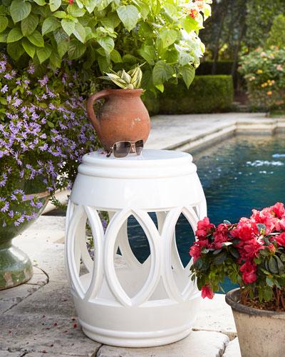 White Garden Seat