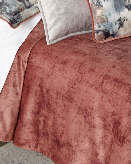 All in Bloom Solid Velvet 3-Piece King Coverlet Set