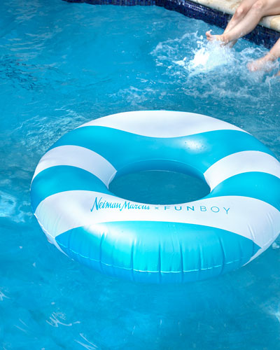Neiman Marcus Striped Tube Pool Float