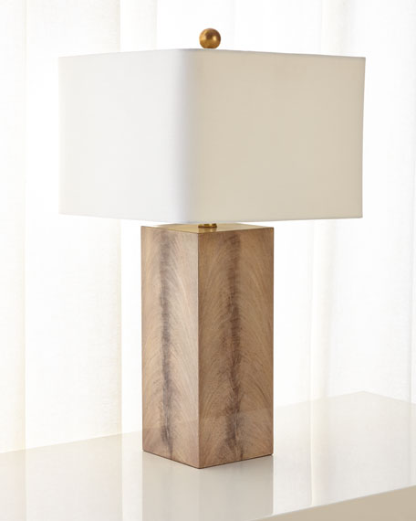 Walnut Wood Veneer Table Lamp