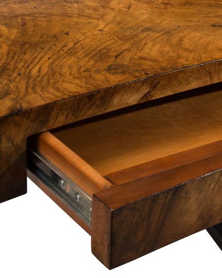Curved Walnut Writing Desk