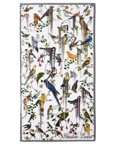 Birds Sinfonia Perce-Neige Beach Towel