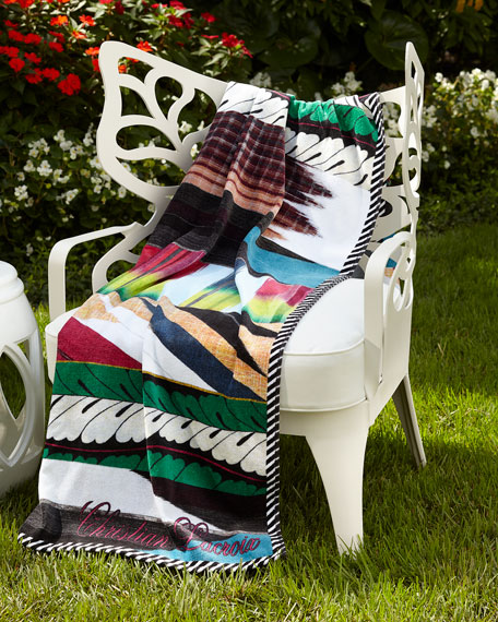 Christian Lacroix Geisha Prisme Beach Towel