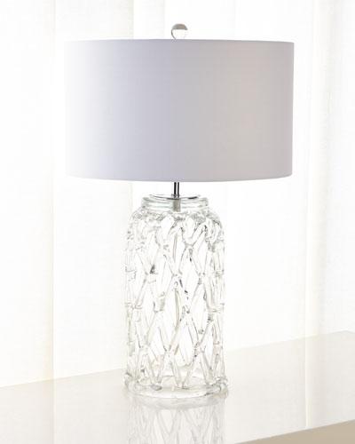 Glass Lattice Table Lamp