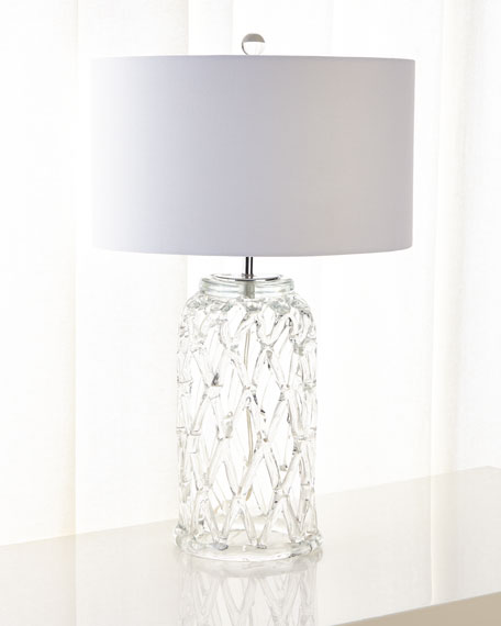 Glass Lattice Table Lamp