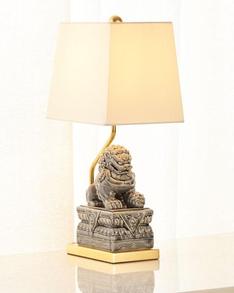 Foo Dog Ceramic Table Lamp