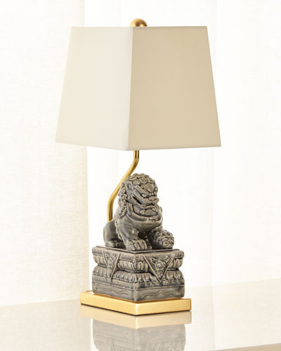 Foo Dog Ceramic Table Lamp
