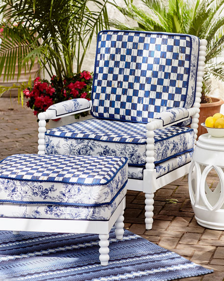 MacKenzie-Childs Indigo Villa Outdoor Chair