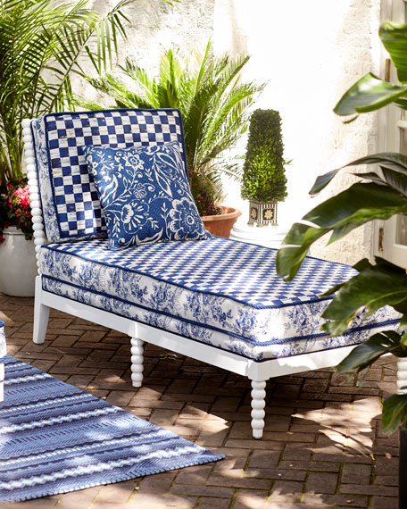 Indigo Villa Outdoor Chaise