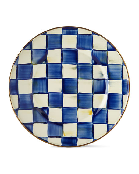MacKenzie-Childs Royal Check Dinner Plate