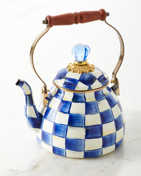 MacKenzie-Childs Royal Check 2-Qt. Tea Kettle