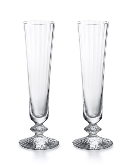 Mille Nuits Champagne Flutes, Set of 2