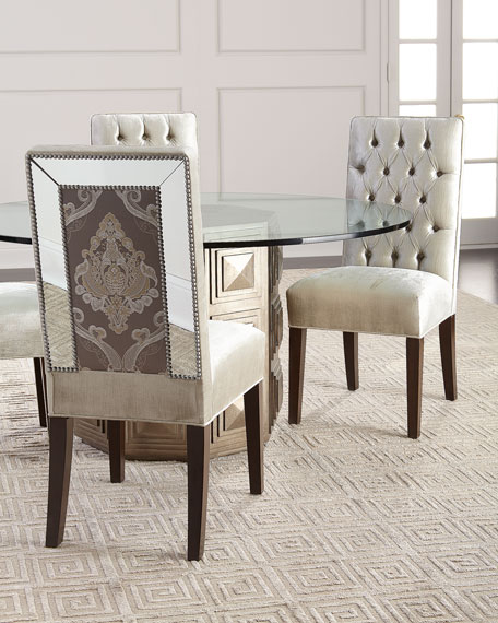 Brittany Mirrored Trim Dining Chair