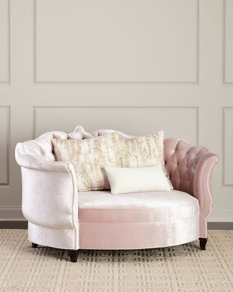 Haute House Isabella Blush Cuddle Chair