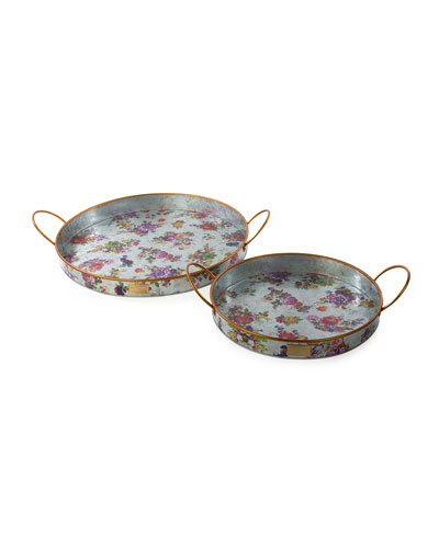 Flower Market Outdoor Trays  Set of 2