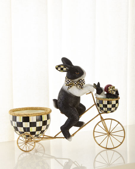 MacKenzie-Childs Pedaling Radish Rabbit