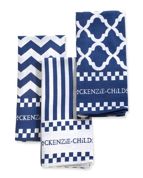 Zigzag Dish Towels, Set of 3
