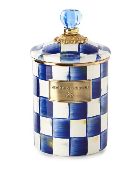 MacKenzie-Childs Royal Check Medium Canister