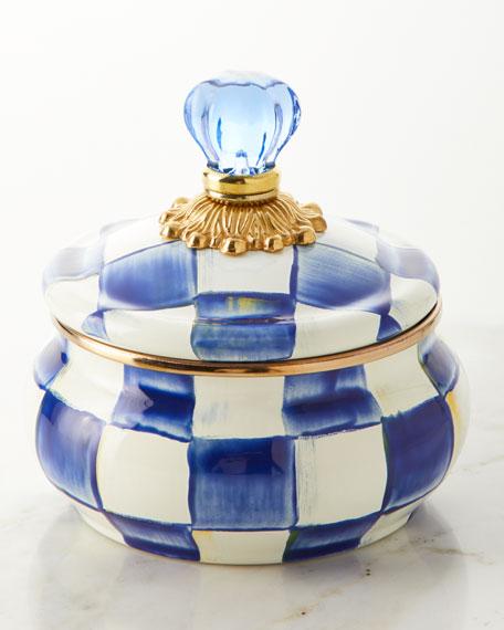 Royal Check Squashed Pot