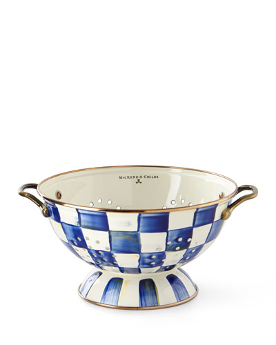 royal check colander large