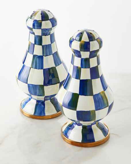 MacKenzie-Childs Royal Check Large Salt and Pepper Shakers