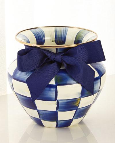 Royal Check Large Vase