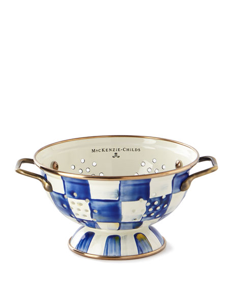 MacKenzie-Childs Royal Check Small Colander