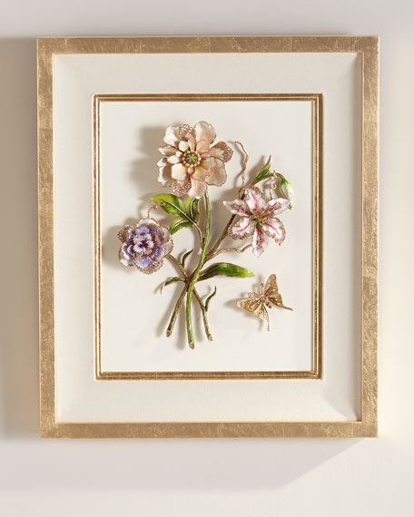 Jay Strongwater Bouquet Wall Art