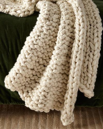 Hannah Chunky Knit Throw