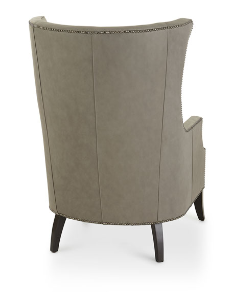 Mona Leather Wing Chair