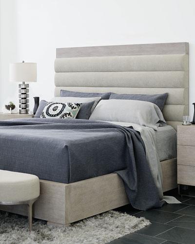 Linea Metal & Upholstered Bench