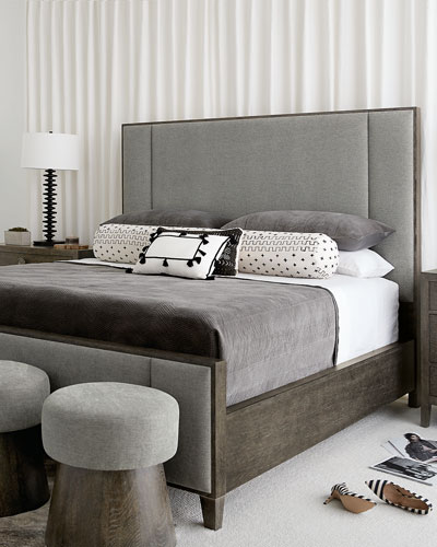 Linea Vertical Panel King Bed