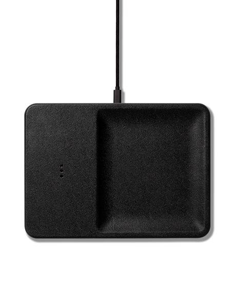 CATCH:3 Single Device Wireless Charging Station w/ Accessory Organizer, Black