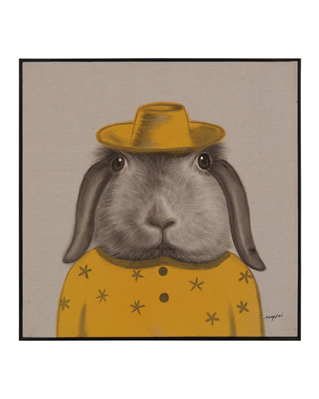 """Best Dressed Hare"" Wall Art by Teng Fei"