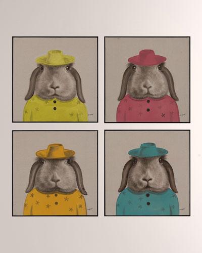 Best Dressed Hare Wall Art by Teng Fei