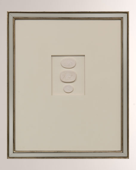 """Intaglio VIII"" Ivory Wall Decor"