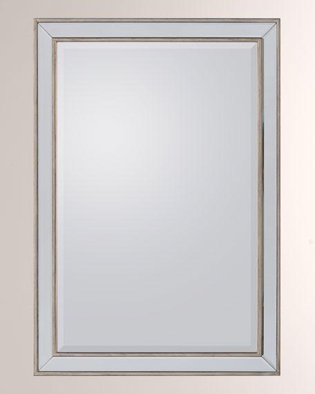 Silver Framed Beveled Mirror