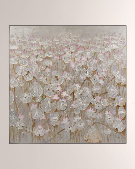 """Silver Lily Pond"" Wall Art by Teng Fei"