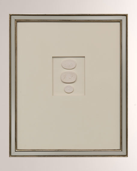 """Intaglio II"" Ivory Wall Decor"