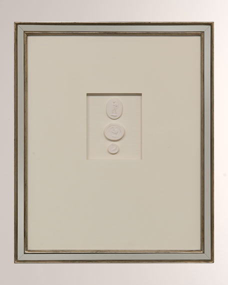 """Intaglio IX"" Ivory Wall Decor"