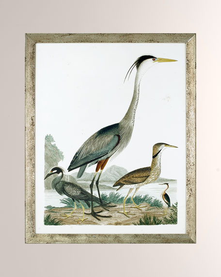 """Large Heron Family I"" Art Print"