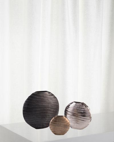 Chiseled Vases  Set of 3