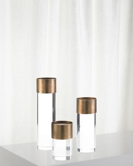 Crystal Candleholders, Set of 3