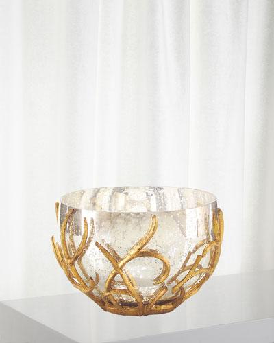 Gold Branch Encased Bowl