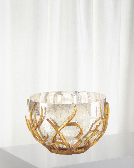 Gold Branch Encased Bowl
