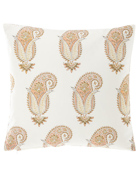 "Medium Paisley Pillow, 20""Sq."