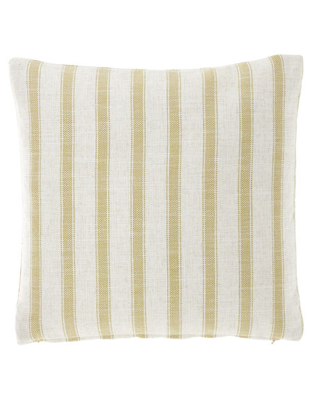 "Striped Pillow, 20""Sq."