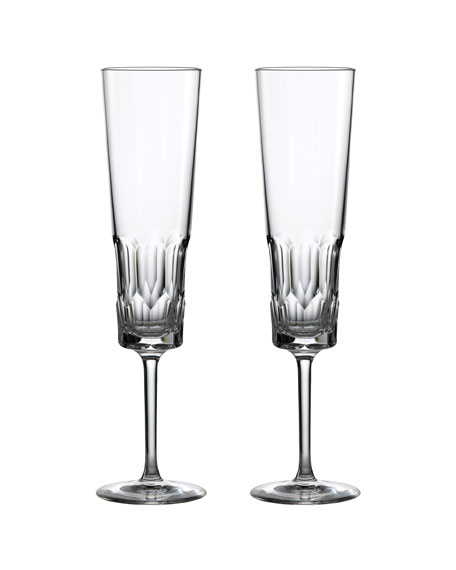 Waterford Crystal Jeff Leathan Icon Champagne Flutes, Set