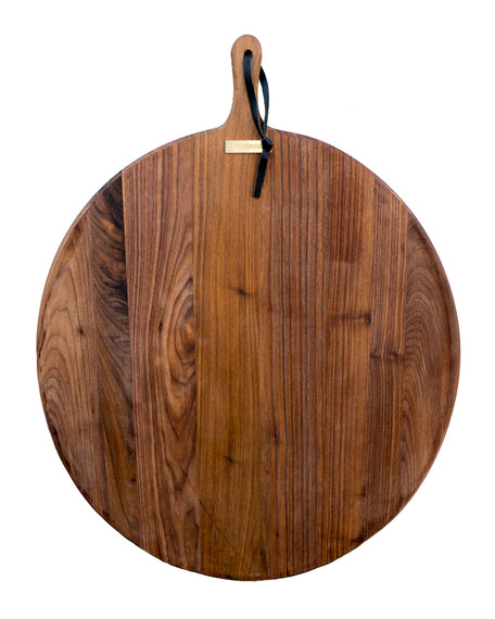 Dutch Deluxes Extra-Large French Walnut Circular Bread Board