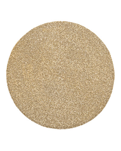 Unigold Round Metal Beaded Placemat